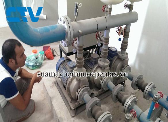 Dịch vụ sửa máy bơm nước Pentax đầu Inox