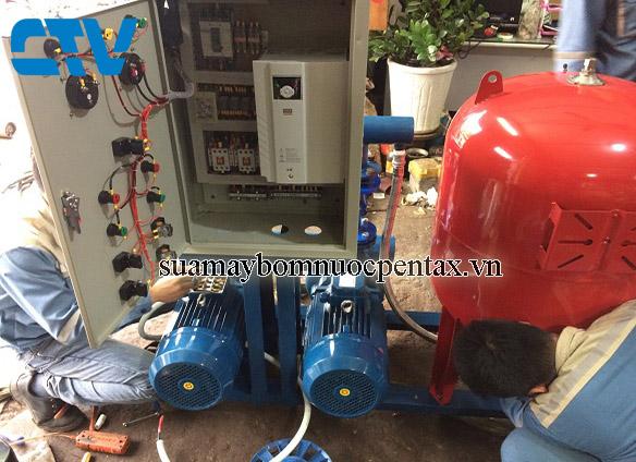 Cường Thịnh Vương thi công thiết kế lắp đặt hệ thống máy bơm tăng áp biến tần